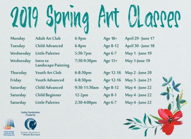 2019 Spring Art Classes