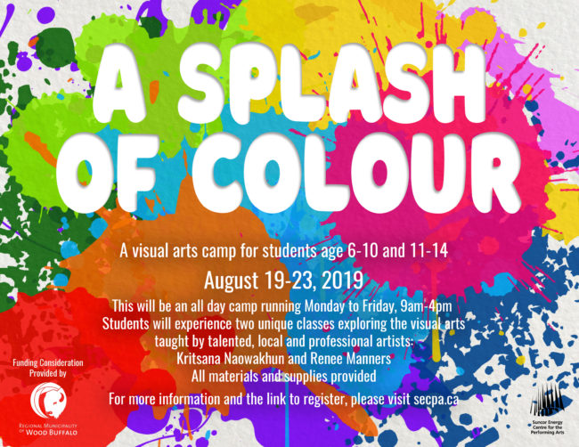 2019 Summer Art Camp: A Splash of Colour!